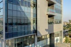 啤酒舍瓦,以色列- 10月20日2017现代高科技中心在以色列是`唔舍瓦 免版税库存照片