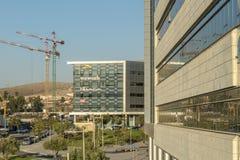 啤酒舍瓦,以色列- 10月20日2017现代高科技中心在以色列是`唔舍瓦 库存图片