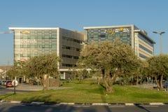 啤酒舍瓦,以色列- 10月20日2017现代高科技中心在以色列是`唔舍瓦 免版税库存图片