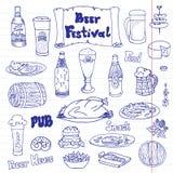 啤酒节日传染媒介集合 图库摄影