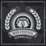 啤酒节日象标志-传染媒介设计 图库摄影
