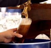 啤酒草稿新德语 免版税库存照片