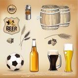 啤酒薄饼图标 免版税库存图片