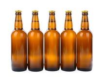 啤酒被隔绝的玻璃瓶 免版税库存图片