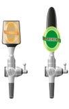 啤酒设备向量例证 库存例证