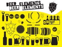 啤酒设计元素 免版税库存图片