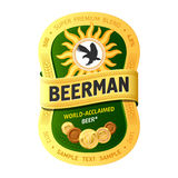 啤酒设计标签 免版税库存图片