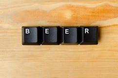 啤酒词 免版税库存图片