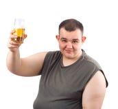 啤酒贪酒的人 图库摄影