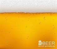 啤酒起泡特写镜头 免版税库存图片