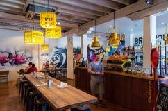 啤酒酿造厂咖啡烘烤器咖啡馆在本迪戈澳大利亚 免版税库存照片
