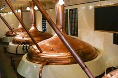 啤酒酿造厂在Pilsen 库存图片
