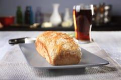 啤酒面包鲜美大面包  免版税库存照片