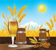 啤酒风景 免版税库存照片