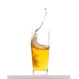 啤酒飞溅 库存图片