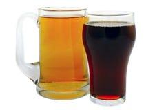 啤酒黑暗贮藏啤酒 免版税库存照片