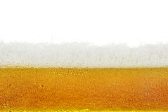 啤酒,泡沫,在白色背景隔绝的泡影 图库摄影