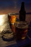 啤酒,瓶,烟灰缸,玻璃 库存图片
