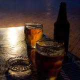 啤酒,瓶,烟灰缸,玻璃 免版税库存照片