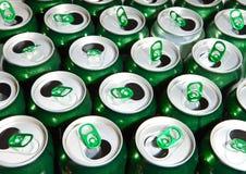 啤酒cans.abstract背景 库存照片