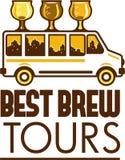 啤酒Flight Glass范Best Brew游览减速火箭 库存照片