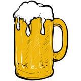 啤酒glas 皇族释放例证