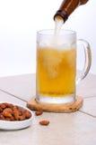 啤酒nutes倾吐 免版税库存照片