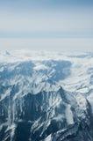 喀喇昆仑山脉俯视图在Ladakh,印度 免版税图库摄影