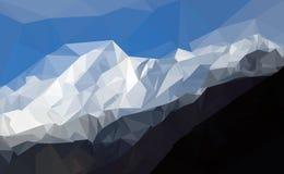 喀喇昆仑山脉山脉,巴基斯坦的喜马拉雅山多角形  免版税库存照片