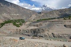 喀喇昆仑山脉山脉 免版税图库摄影