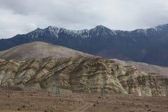 喀喇昆仑范围的3个不同样式 免版税库存图片