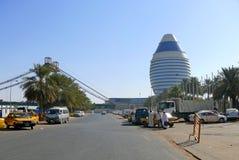 喀土穆,苏丹- 2008年10月22日:城市的看法。 库存图片