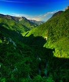 喀尔巴阡山脉的全景 库存照片
