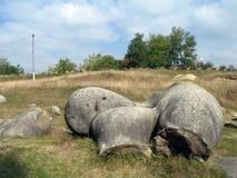 喀尔巴阡山脉的地质石头 库存照片