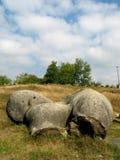 喀尔巴阡山脉的地质石头  免版税库存照片