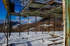 喀尔巴阡山脉的山冬天 库存照片