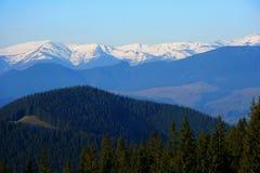 喀尔巴阡山脉的山 图库摄影