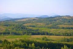 喀尔巴阡山脉的横向山 免版税图库摄影