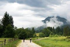 喀尔巴阡山脉的横向 库存图片