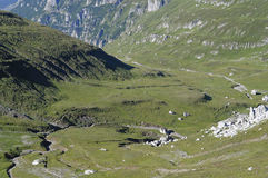 喀尔巴阡山脉的谷 免版税图库摄影