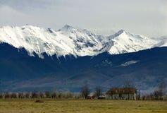 喀尔巴阡山脉的negoiu峰顶 图库摄影
