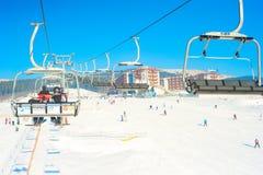 喀尔巴汗滑雪胜地 库存图片