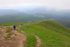 喀尔巴阡山脉在乌克兰 免版税库存图片