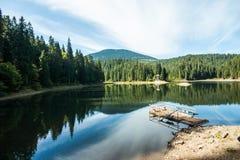 喀尔巴阡山脉湖 库存照片