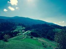 喀尔巴阡山脉的乌克兰 库存图片