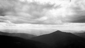 喀尔巴阡山脉的全景 库存图片