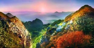 喀尔巴阡山脉的夏天 库存图片