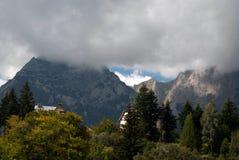 喀尔巴阡山脉的多云山 免版税图库摄影