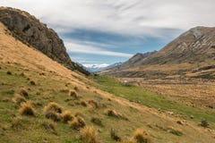 喀尔巴阡山脉的山乌克兰谷 免版税库存照片
