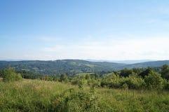 喀尔巴阡山脉的山的视图 免版税库存照片